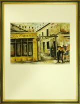 高級絵画「パリの二人」パステル画